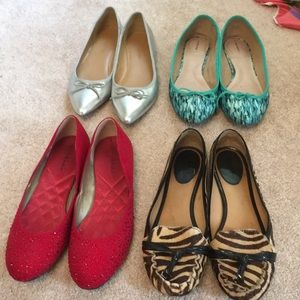 Flats bundle! Kate spade and banana republic!
